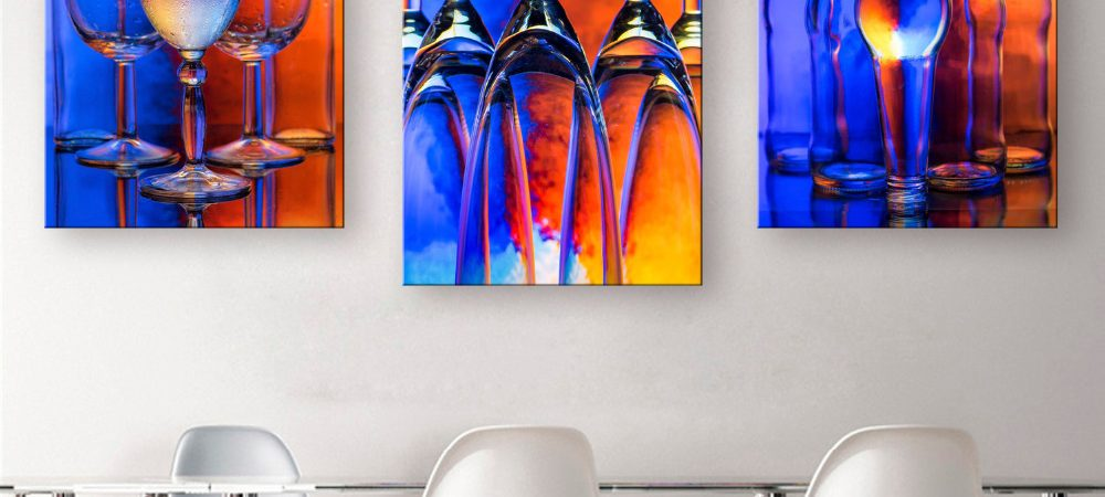 Paintings - glass and canvas