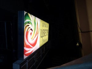 Flowers shop, light board